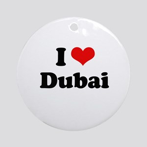 I love Dubai Ornament (Round)