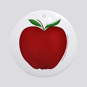 Cute Apple 2 Ornament (Round)