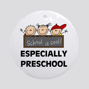 Preschool is Cool Ornament (Round)