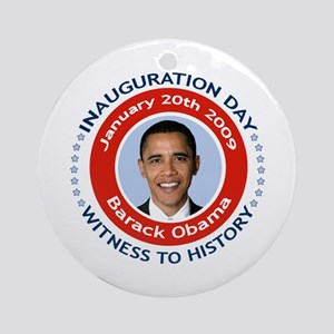 Obama Inauguration Day Ornament (Round)