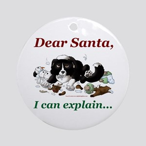 Dear Santa Ornament (Round)