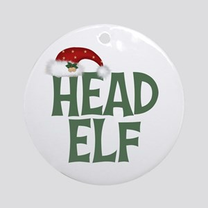 Head Elf Ornament (Round)