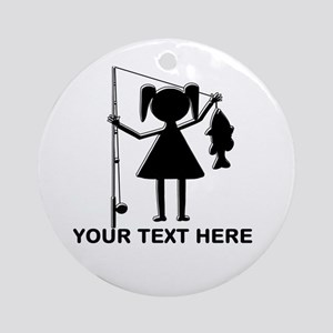 CUSTOMIZABLE REEL GIRL Ornament (Round)