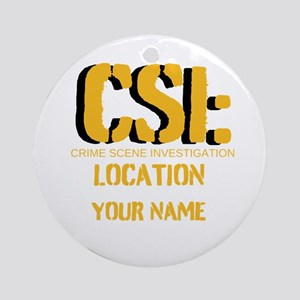 Customizable CSI Ornament (Round)