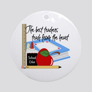 Teach From Heart Ornament (Round)