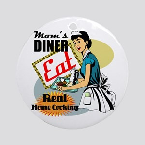 Moms Diner Retro 50's Ornament (Round)