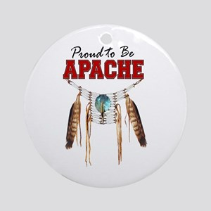Proud to be Apache Ornament (Round)