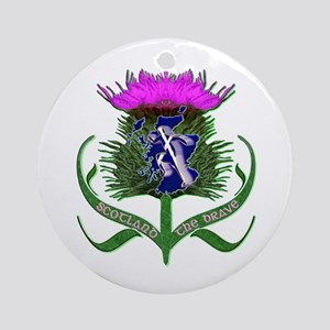 Scottish Runner And Thistle The Brave Ornament (Ro