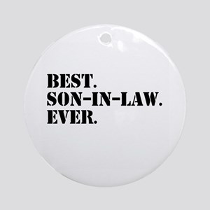 Best Son in Law Ever Ornament (Round)