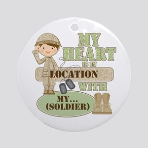 Heart With Soldier Ornament (Round)