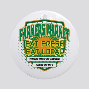 Personalized Farmers Market Ornament (Round)