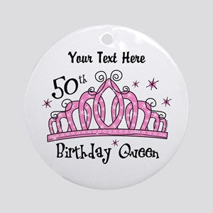 Personalized Tiara 50th Birthday Queen Ornament (R