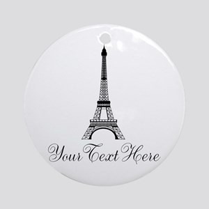 Personalizable Eiffel Tower Ornament (Round)