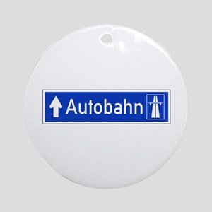Autobahn Sign, Germany Ornament (Round)
