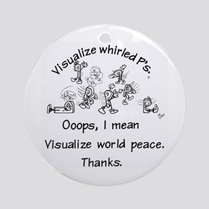 Visualize Whirled P's Ornament (Round)