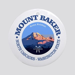Mount Baker Round Ornament