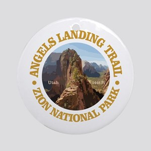 Angels Landing Round Ornament