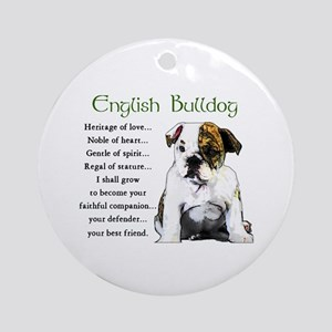 English Bulldog Puppy Round Ornament