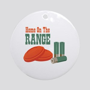Home On The Range Ornament (Round)
