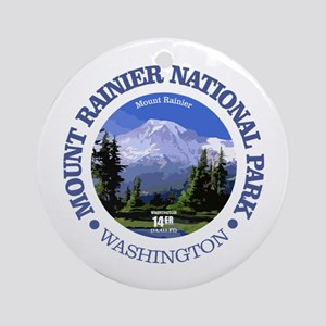 Mt Rainier NP Round Ornament