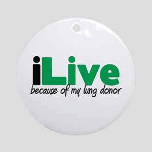 iLive Lung Ornament (Round)