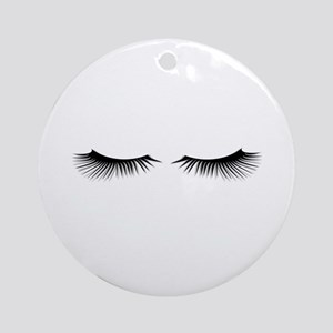 Eyelashes Round Ornament