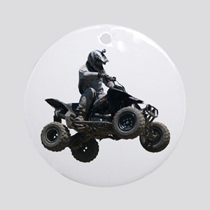 Black Quad Round Ornament