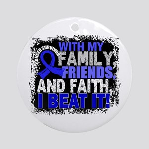 Colon Cancer Survivor FamilyFrien Ornament (Round)