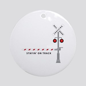 Stayin' On Track Ornament (Round)