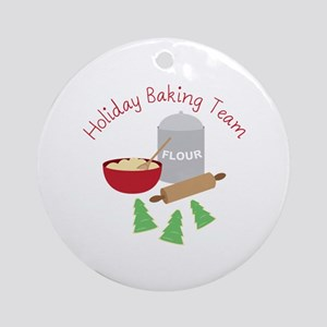 Holiday Baking Team Ornament (Round)