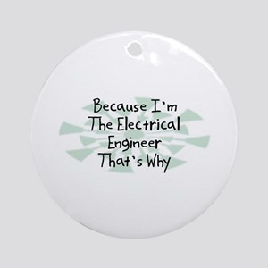 Because Electrical Engineer Ornament (Round)
