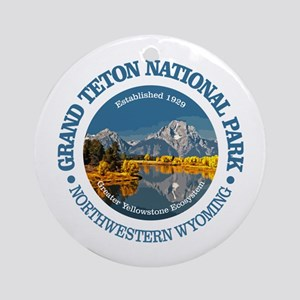 Grand Teton NP Round Ornament
