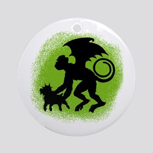 Flying Monkey with Toto Ornament (Round)