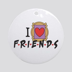 I heart Friends TV Show Ornament (Round)