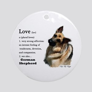 German Shepherd Love Is Ornament (Round)