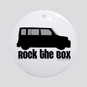 Rock the Box Round Ornament