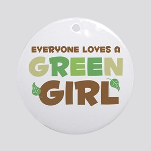 Loves A Green Girl Ornament (Round)