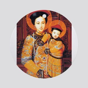 Our Lady of China Blessed Chinese S Round Ornament