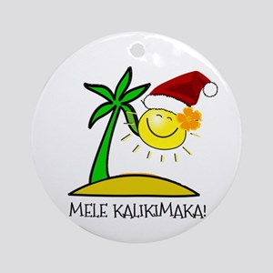 Hawaiian Christmas - Mele Kalikimaka Ornament (Rou