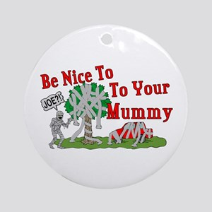 TP Mummy Ornament (Round)