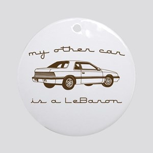 my other car is a lebaron Ornament (Round)
