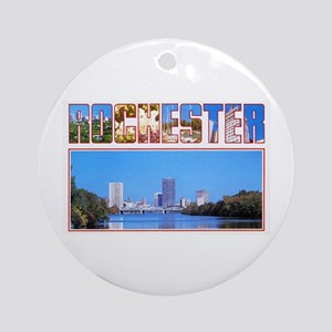 Rochester New York Greetings Ornament (Round)