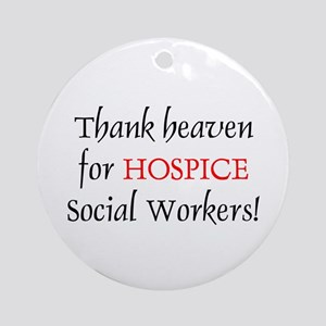 Thank Heaven Hospice BRT Ornament (Round)