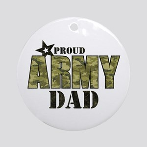 Camo Proud Army Dad Ornament (Round)