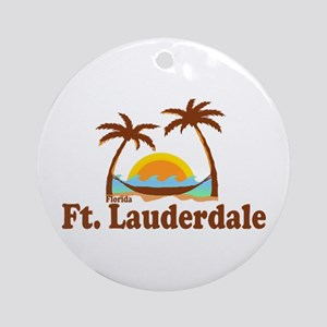 Fort Lauderdale FL. Ornament (Round)