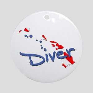 Dive Hawaii Ornament (Round)