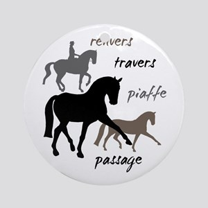Dressage Movements Trio Ornament (Round)