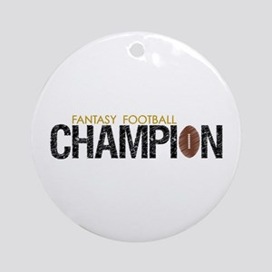 Fantasy League Champion Ornament (Round)