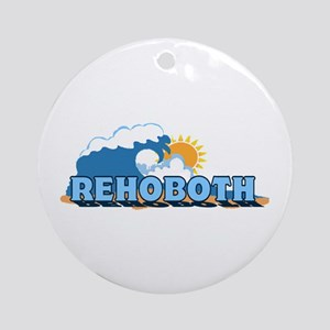 Rehoboth Bech DE - Waves Design Ornament (Round)