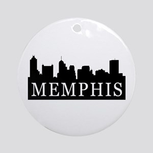 Memphis Skyline Ornament (Round)